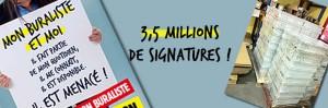RECORD POUR LA PETITION ET PREMIERE CONTRE OFFENSIVE... dans ACTUALITE SYNDICALE 3.5millions-300x99