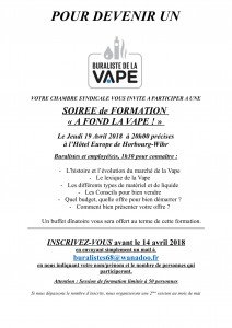 Invitation formation Vape 2018-1